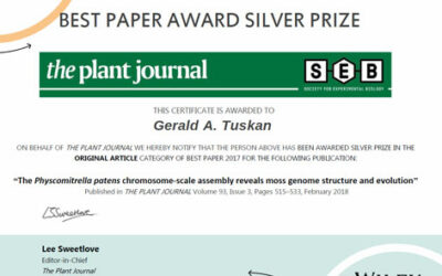 CBI authors received Silver Award from The Plant Journal